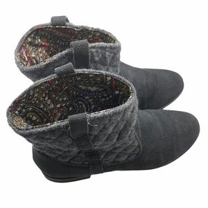BC grey quilted suede booties. Pattern inside Sz6
